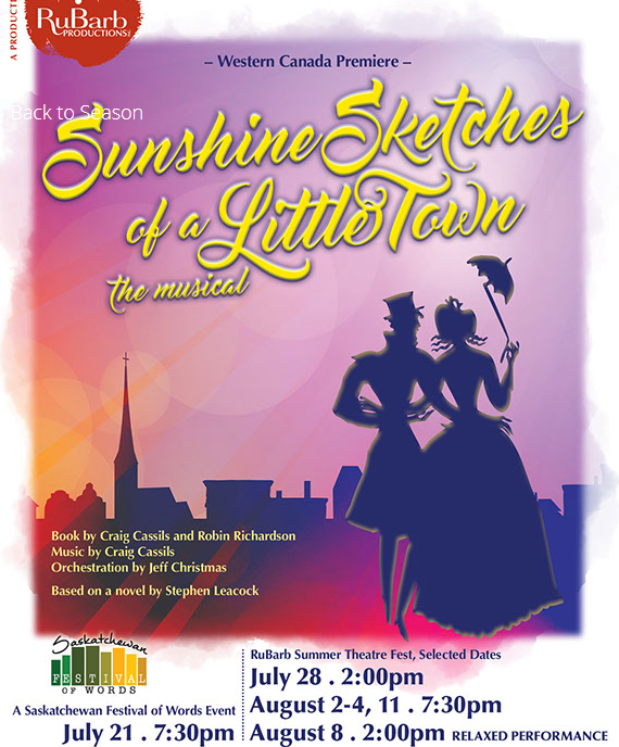 Rubarb Productions presents: Sunshine Sketches Of A Litlle Town